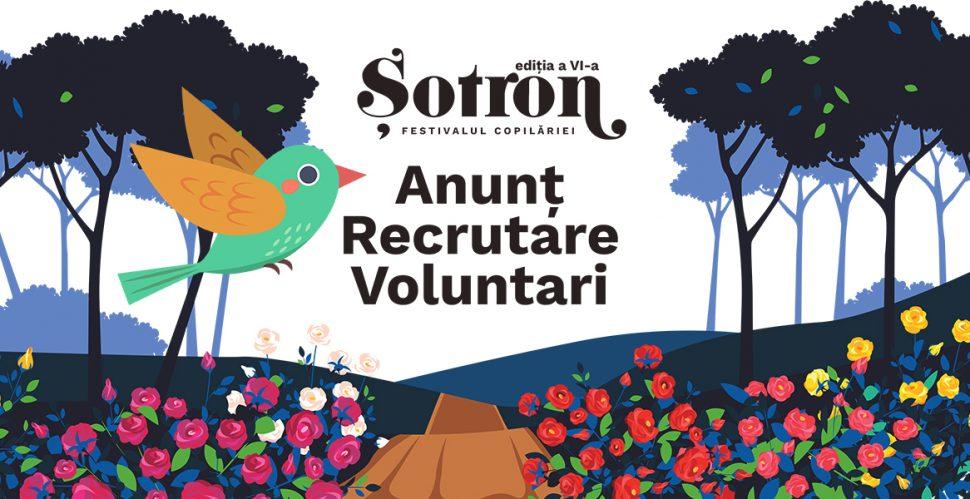 Apel pentru recrutare voluntari Șotron. Festivalul Copilăriei 2019