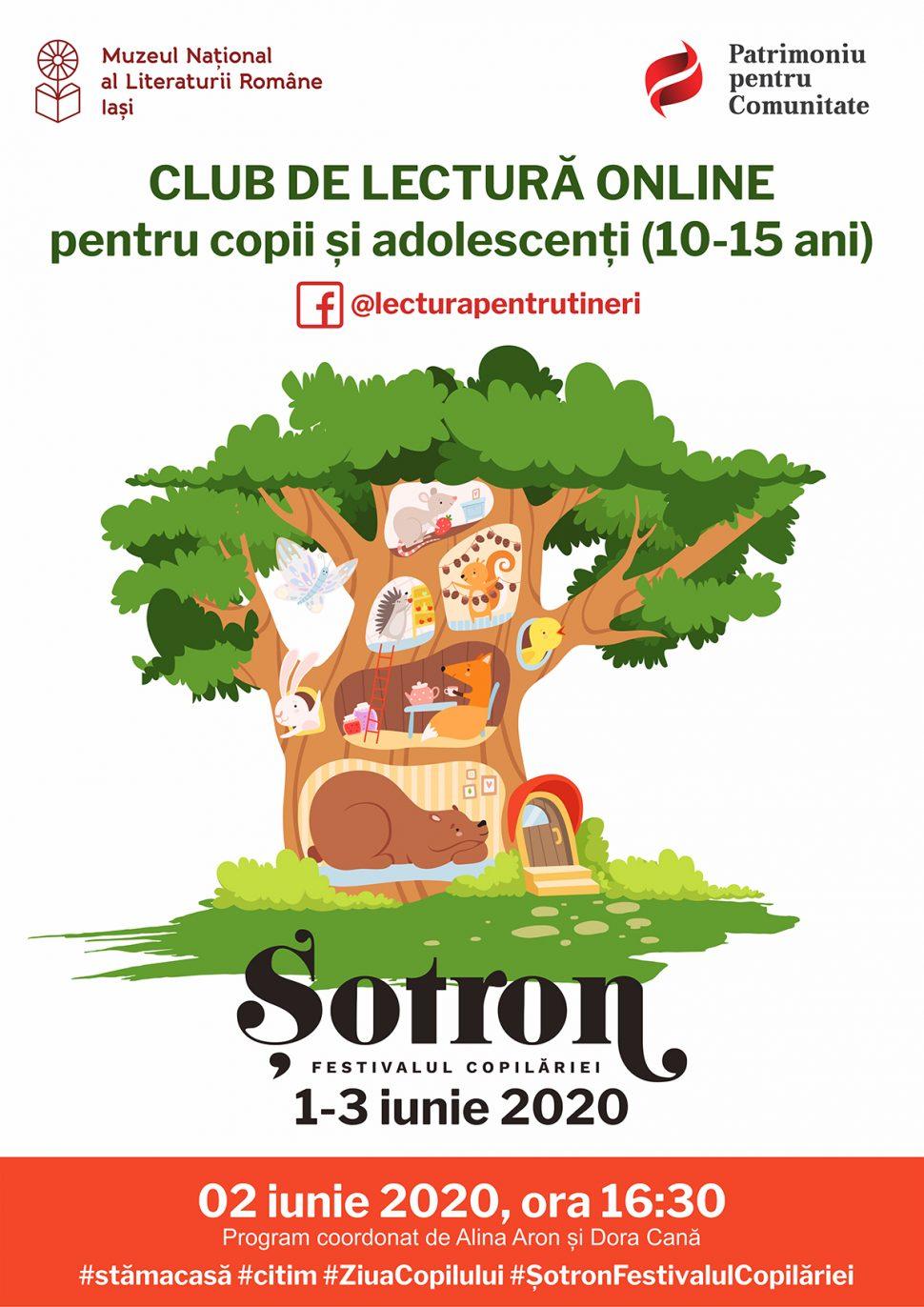 """Clubul de lectură pentru tineri la """"Șotron. Festivalul copilăriei"""""""